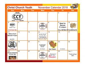 November Youth Calendar